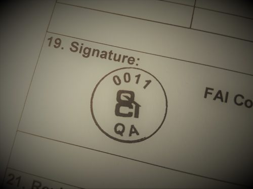 QCI stamp for approving quality documentation